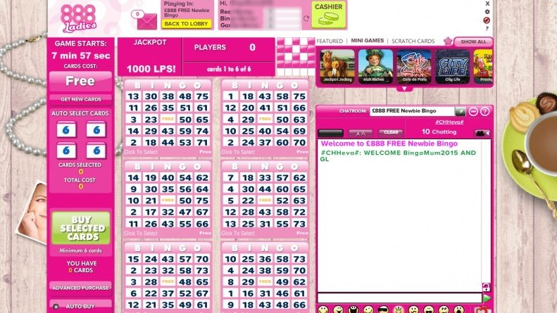Best Online Bingo Sites - 888 Ladies Bingo