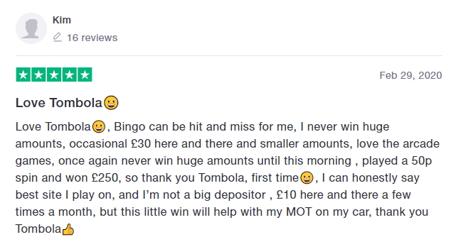 Best Online Bingo Sites - Tombola Review