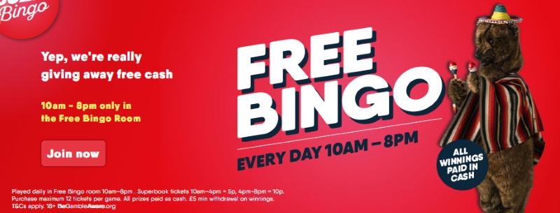 Buzz Bingo Free Bingo