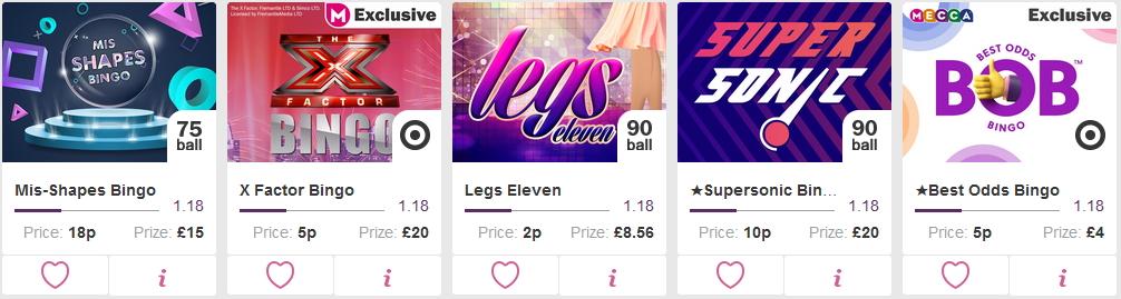 Mecca Bingo - Best Bingo Site