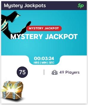Bingo Idol mystery jackpot lobby