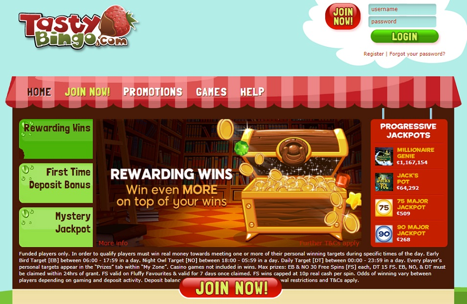 Tasty Bingo Website