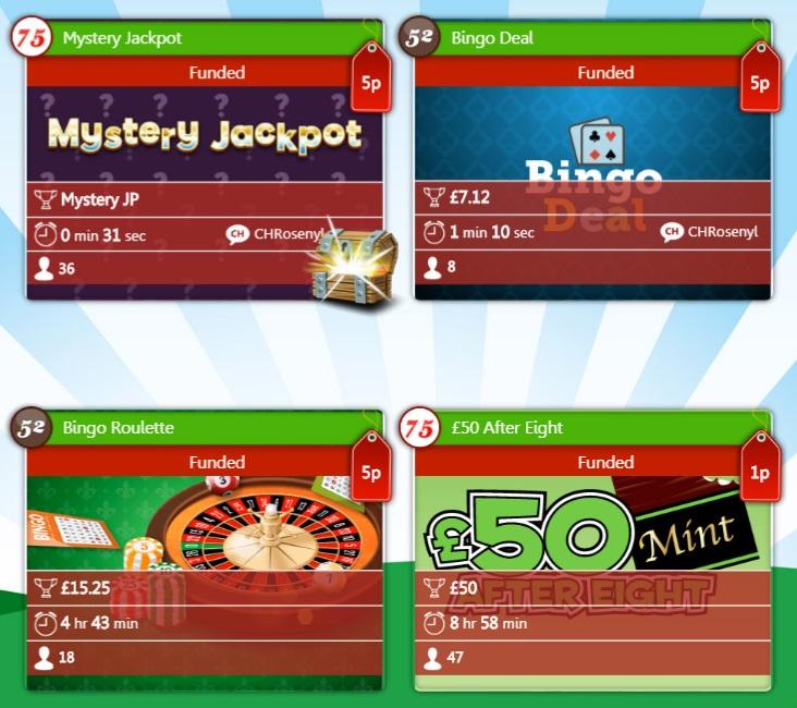 Tasty Bingo Specials Lobby