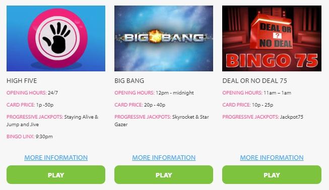 BGO Bingo 75 Ball Lobby