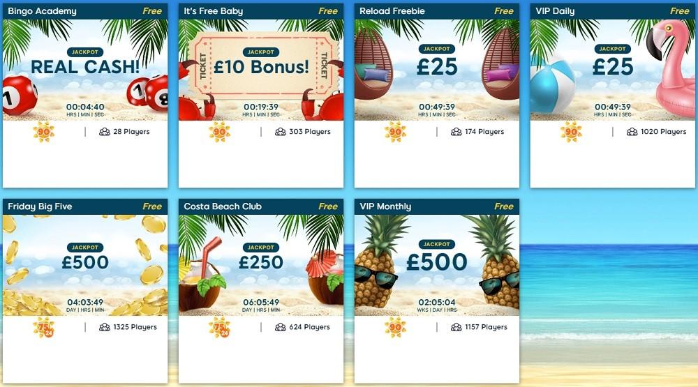Costa Bingo Free Lobby