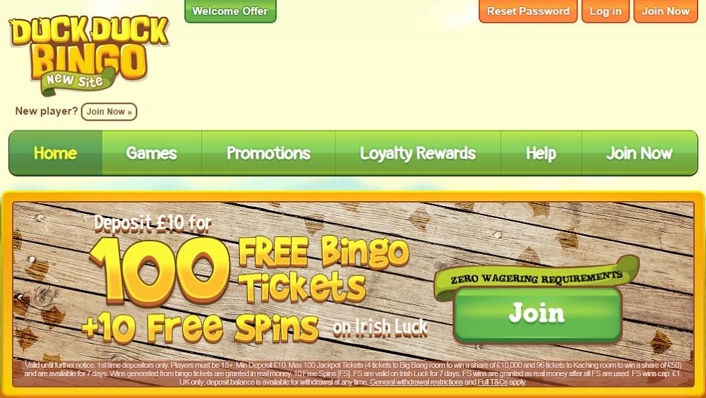Duck Duck Bingo Homepage