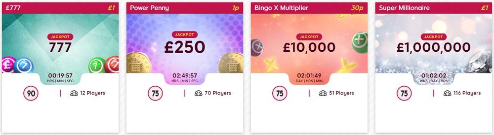Gossip Bingo Daily Jackpots Lobby