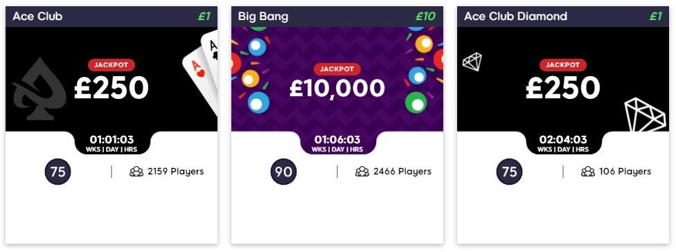 Hunky Bingo Ace Club Lobby