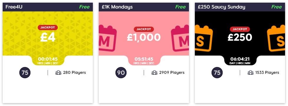 Hunky Bingo Free Games Lobby