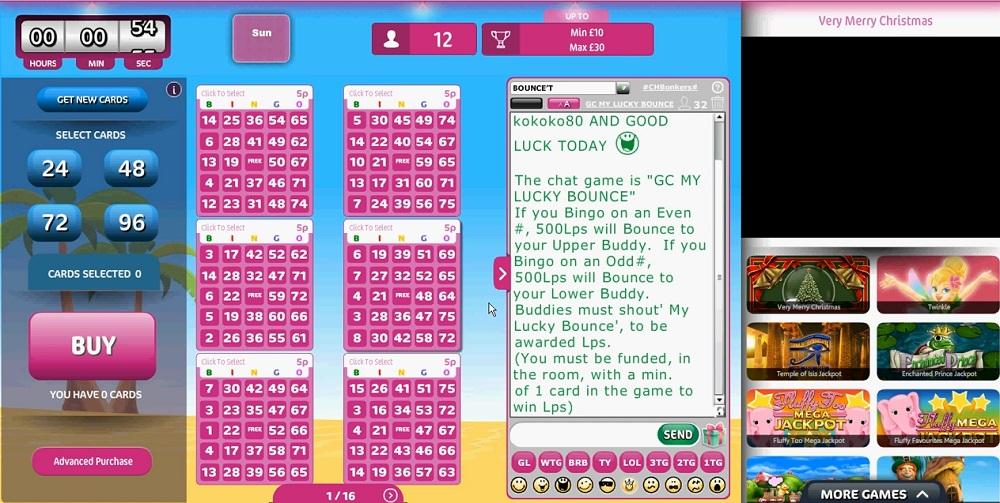 Hunky Bingo Game in Progress