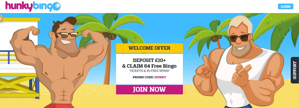 Hunky Bingo Homepage