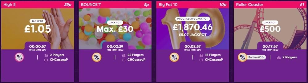 Lucky Charm Bingo 75 Ball Lobby