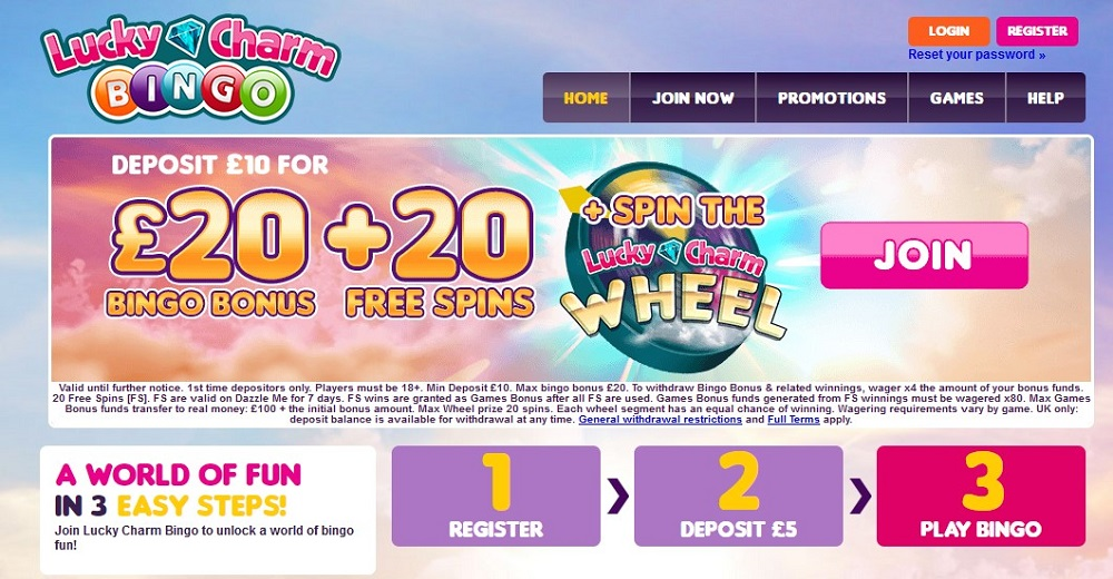 Lucky Charm Bingo Homepage
