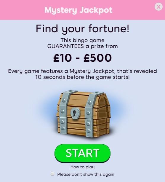 Silk Bingo Mystery Jackpot