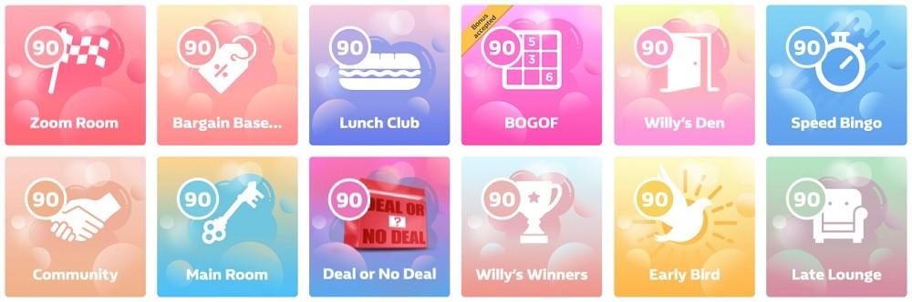 William Hill Bingo 90 Ball Lobby