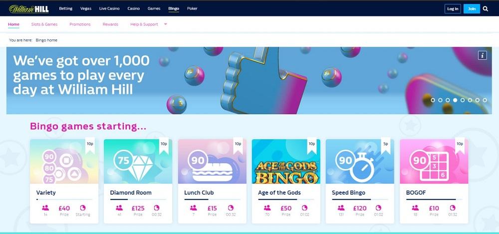 William Hill Bingo Homepage