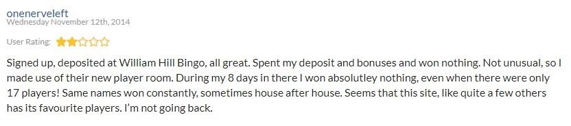 William Hill Bingo Player Review 2