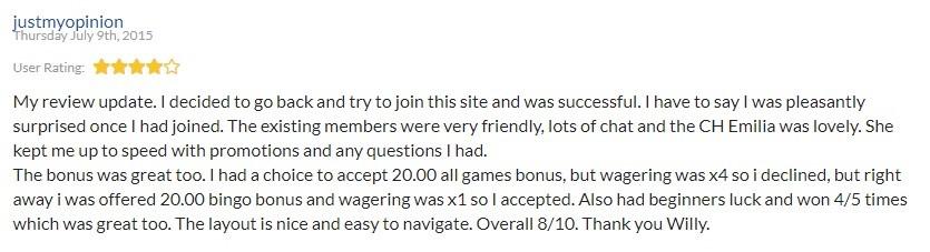 William Hill Bingo Player Review 3