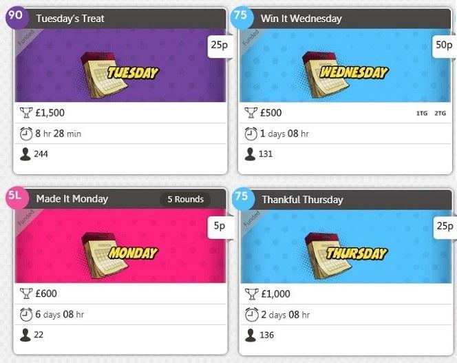 Wink Bingo Daily Jackpots