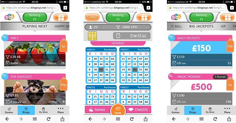 Wink Bingo Mobile App