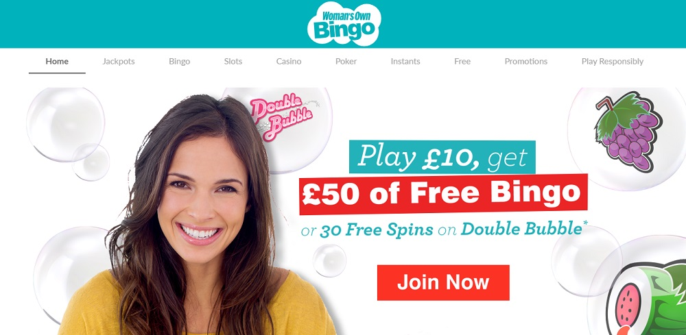 Womans Own Bingo Homepage
