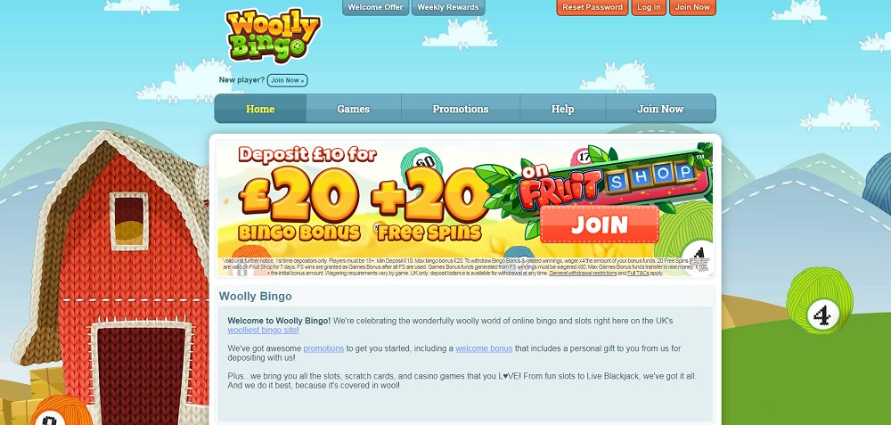 Woolly Bingo Homepage