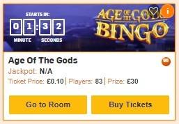Betfair Bingo Age of the Gods Bingo