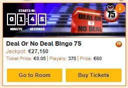 Betfair Bingo Deal Or No Deal Bingo