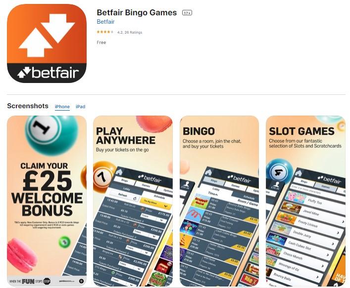 Betfair Bingo Mobile App