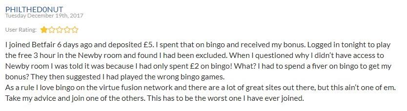 Betfair Bingo Player Review 2