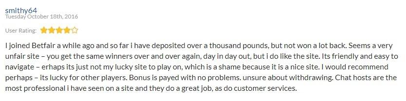 Betfair Bingo Player Review 3
