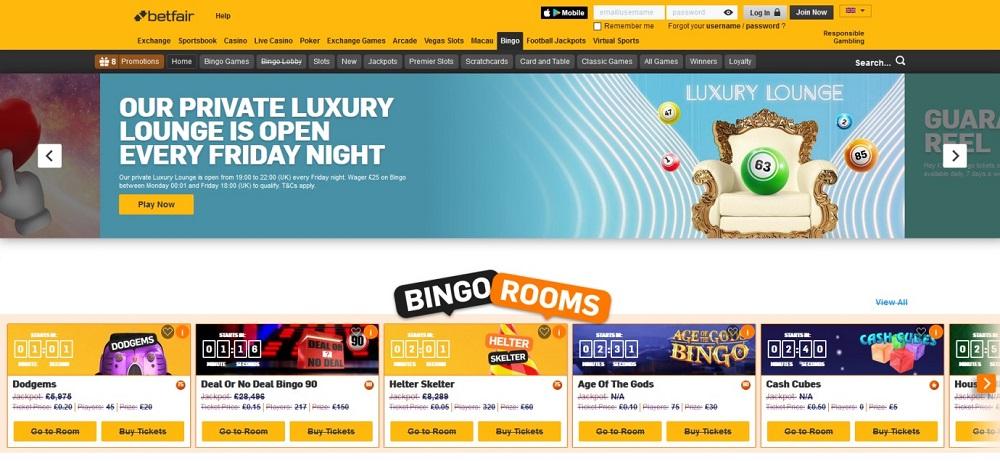 Betfair Bingo Website
