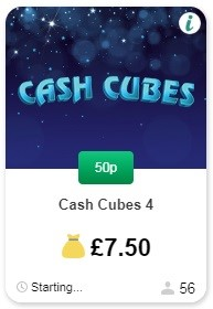 Betfred Bingo Cash Cubes