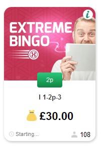 Betfred Bingo Extreme Bingo