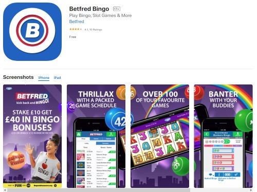 Betfred Bingo Mobile App
