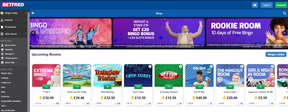 Betfred Bingo Website