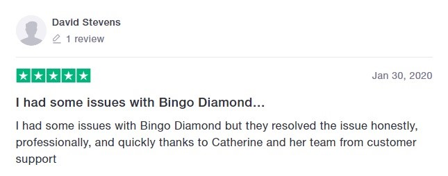 Bingo Diamond Player Review 4