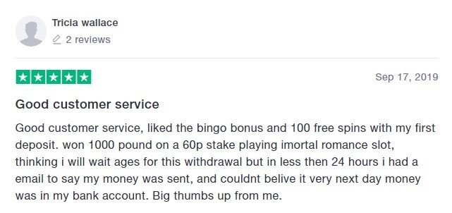 Bingo Diamond Player Review 5