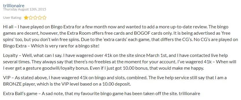 Bingo Extra Player Review 3