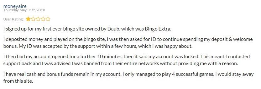 Bingo Extra Player Review