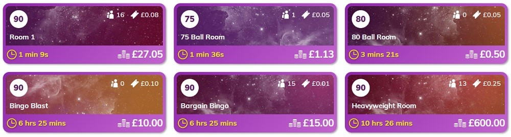 Bingo Stars Lobby