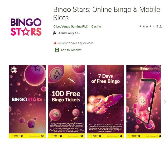 Bingo Stars Mobile App