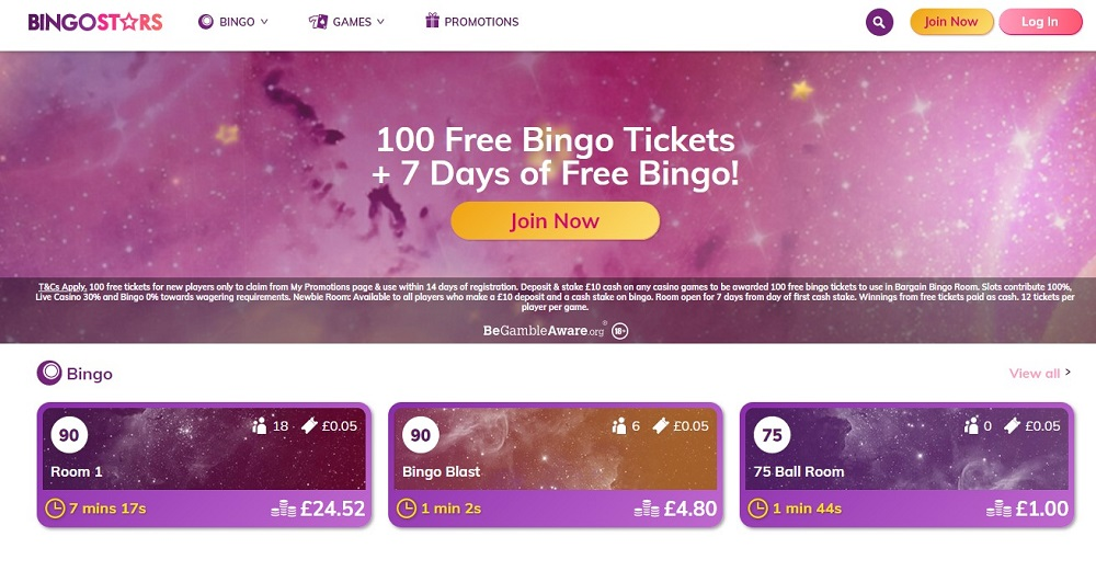Bingo Stars Website