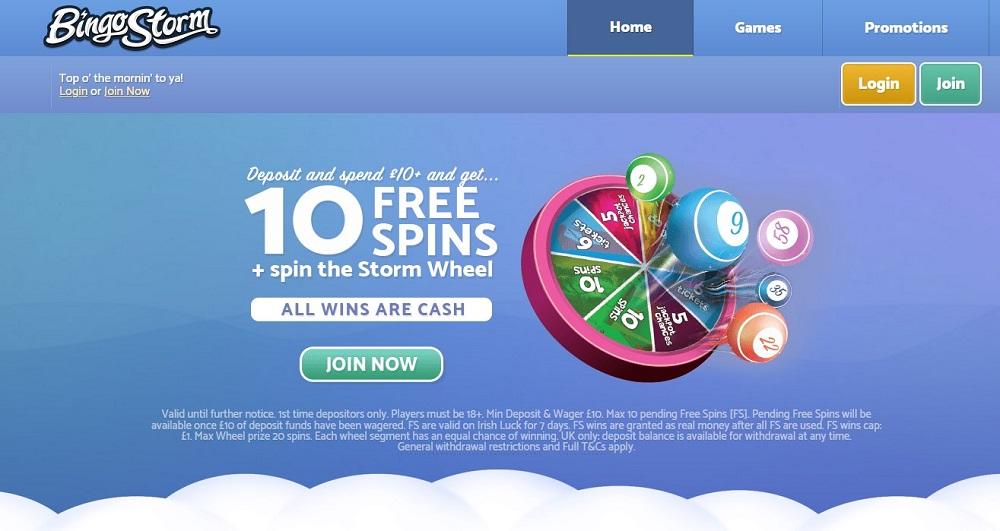 Bingo Storm Website