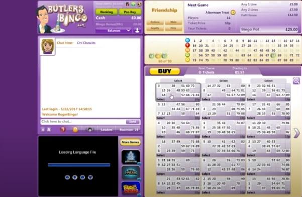 Butlers Bingo Game in Progress