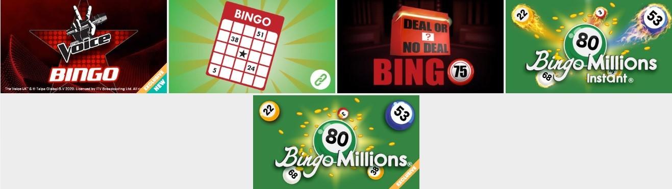Buzz Bingo 80 and 75 Ball Lobby