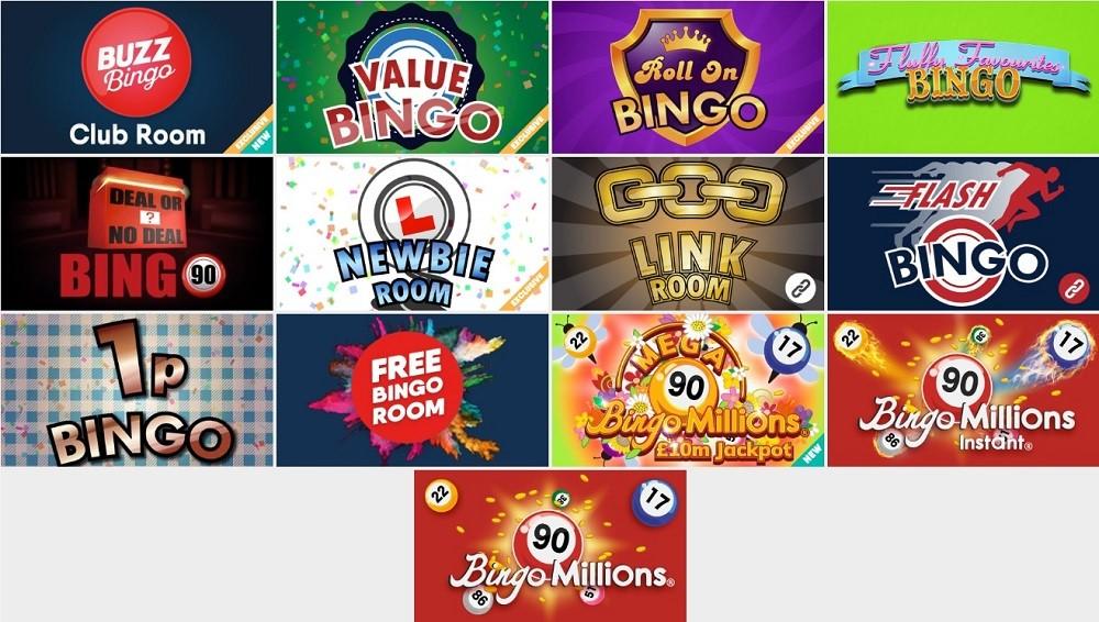 Buzz Bingo 90 Ball Lobby
