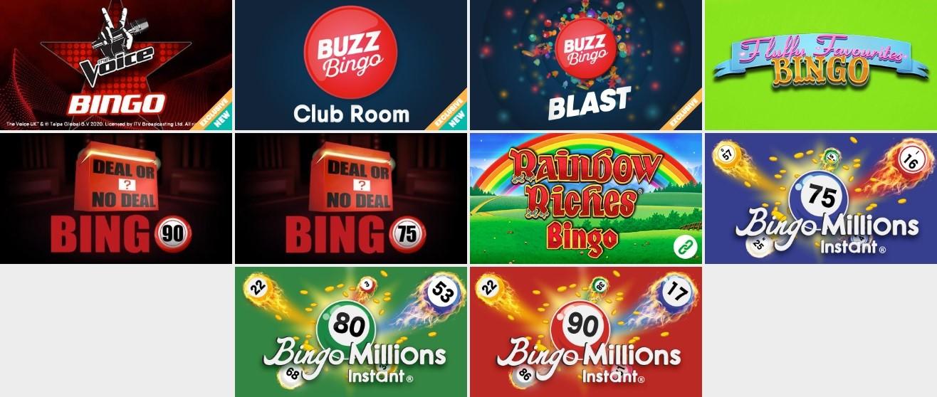 Buzz Bingo Special Games Lobby