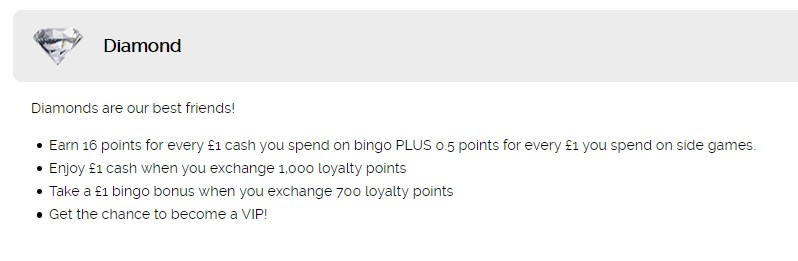 Fabulous Bingo Loyalty Program