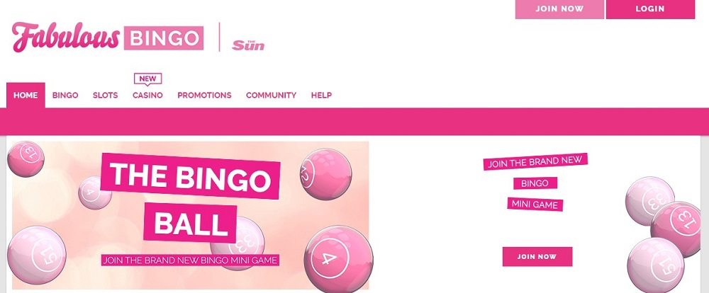 Fabulous Bingo Website
